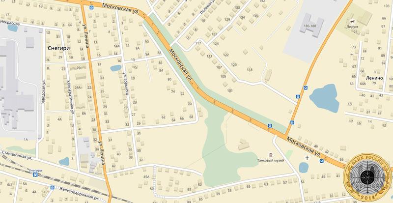 Найти на Яндекс-Карте Танковый музей в Ленино-Снегирях у Волоколамского шоссе