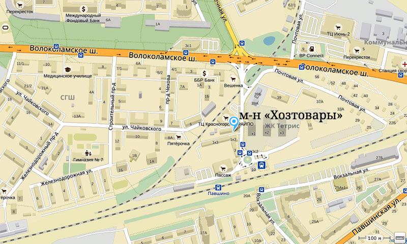 Магазин «Хозтовары» в Красногорске на Яндекс-Карте - пер. Железнодорожный, 1А
