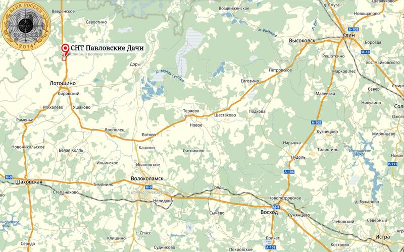 СНТ Павловские Дачи в Лотошинском районе Московской области располагаются у автодороги Уваровка-Тверь Р90