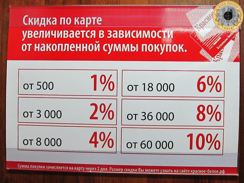 Магазин «Красное & Белое» - максимальная скидка 10%