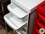 Тележка Панда белого цвета с выдвижными ящиками