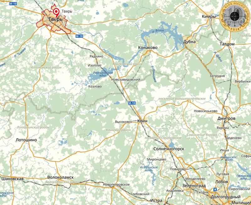 Город Тверь и Тверская область располагаются на северо-западе от Москвы. Самый короткий путь пролегает по Ленинградскому шоссе.