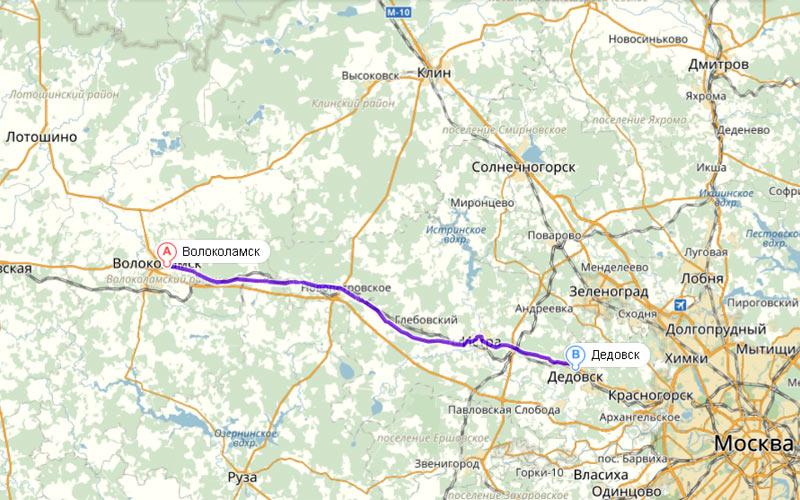 Волоколамск - Дедовск. Семьдесят восемь километров  по Волоколамскому шоссе через город Истра.