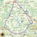 Карта возможных маршрутов из города Клина в Истру