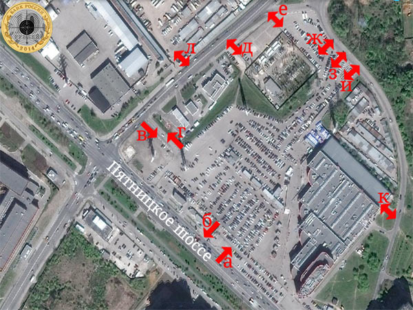 Схема въездов и выездов автомобильной парковки Митинского Радиорынка
