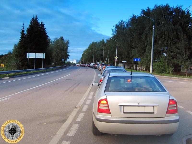 Город Солнечногорск. Традиционные пятничные пробки по вечерам на пути к М-10