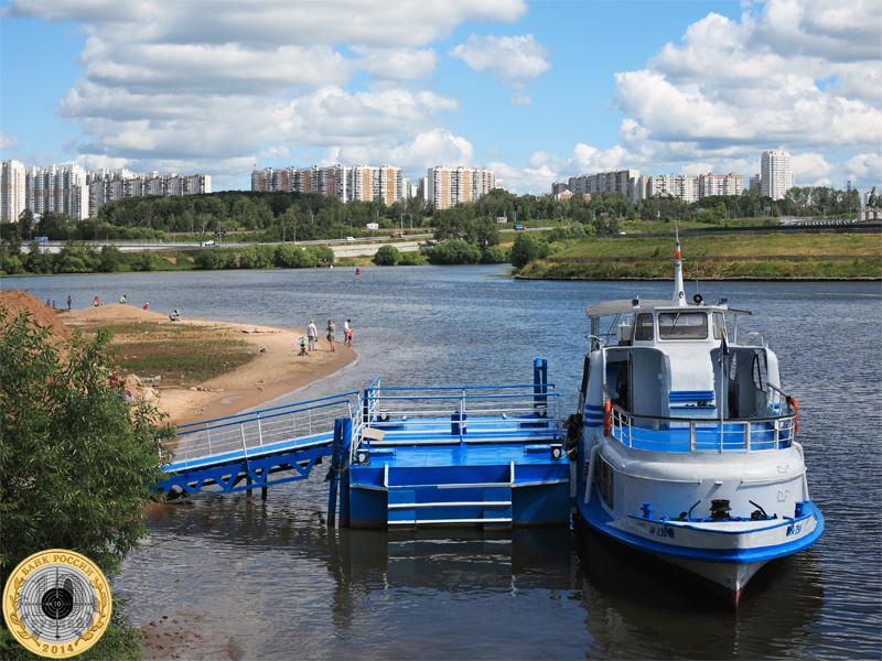 Речной трамвай в Павшинской Пойме
