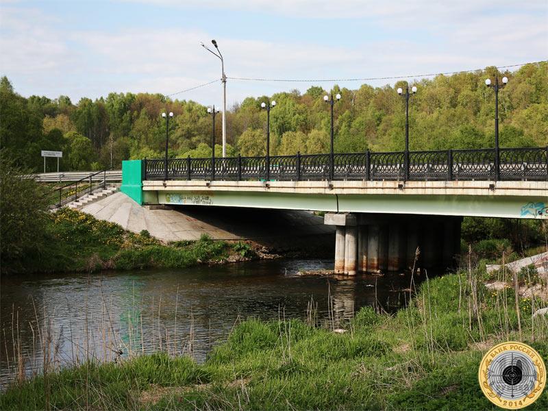 Куркинское шоссе и вид на мост над рекой Сходней