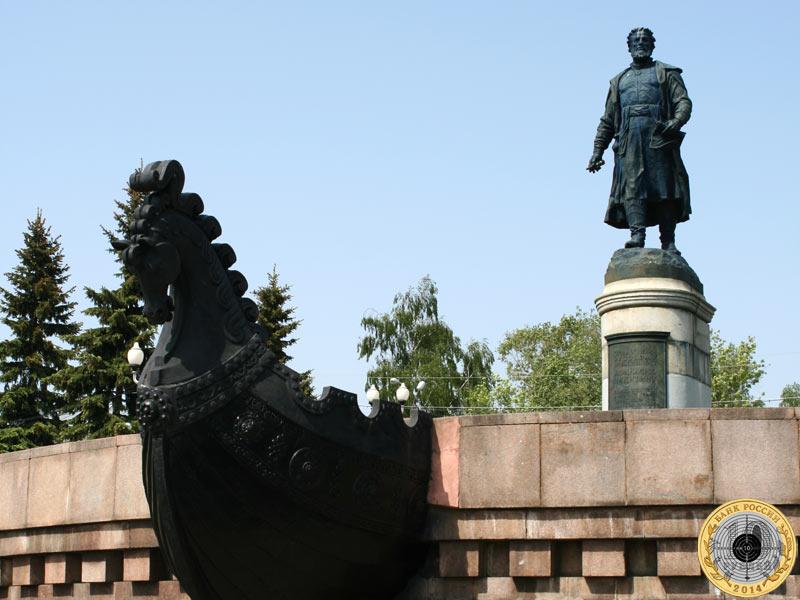 Город Тверь. Памятник Афанасию Никитину