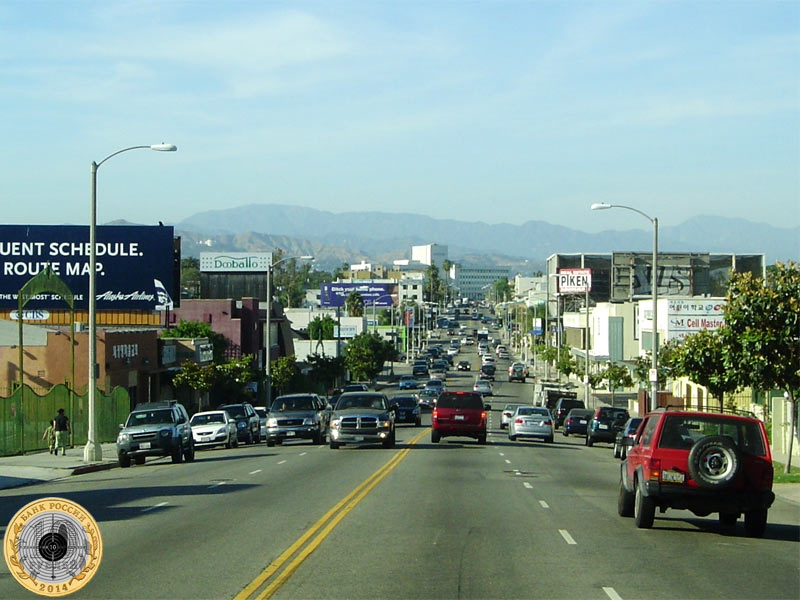 Олимпийский проспект в Лос-Анджелесе, США